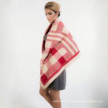 2017 personnaliser en gros plus récent mode femmes vérifié motif écharpe en viscose