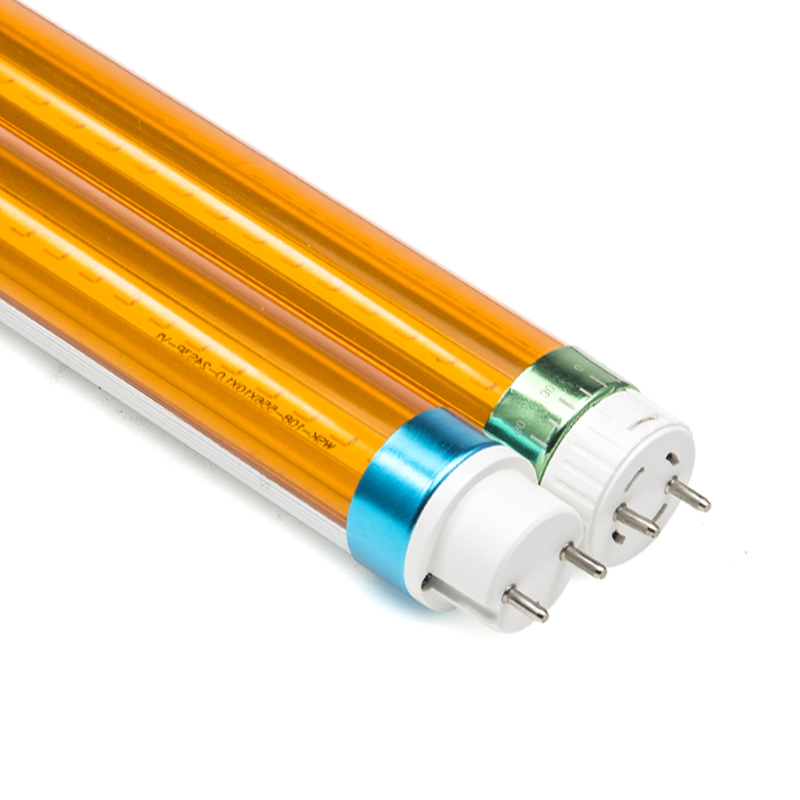 UV free LED Yellow tube light T8 600mm 900mm 1200mm 1500mm