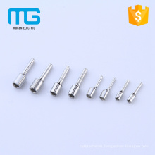 Factory price copper non-insulated electrical accessories, pin terminals