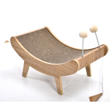 Corrugated Paper Can Be Replaced Spring Toy Ball Design Pet Scratcher Wooden Cat Furniture