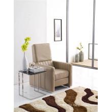 Grey Color Push Back America Design Slim Armrest Chair