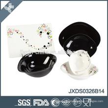 26 pcs porcelain Dinner set, samll set porcelain, black colored set porcelainware