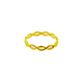 Simple Braid Ring 18 K Yellow Gold Fashion