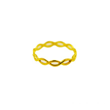 Enkel Braid Ring 18 K Gul Guld Mode