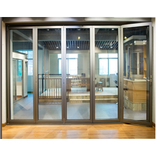 Aluminum  Folding Door with High Quality double glass design