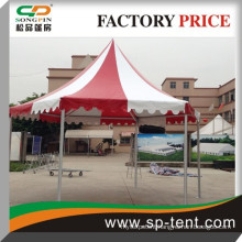 Wholesale cheap wedding party hexagonal gazebo tent 4x8m with white and red with lining and curtain