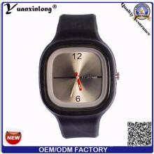 Yxl-999 Moda Genebra Unisex Relógio Silicone Quartz Relógio Relógios Relógios Mulheres Relógio