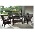PE Wicker Furniture Table et chaise de loisirs