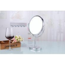 Miroir cosmétique de table en laiton à double face de 8 po
