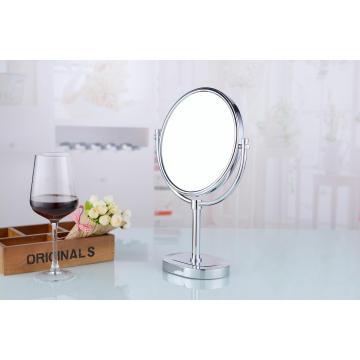 """8 """"de doble cara se levantan el espejo cosmético de la tabla de cobre amarillo"""