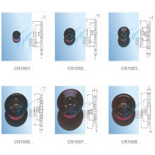 Zusammengebaute keramische Umlenkrolle, keramische Umhüllungs-Rolle, Plastikrolle, v-Rolle, u-Rolle