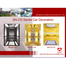 Elevator Cab with Black Golden Mirror (SN-CD-119)