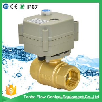 Válvula de esfera elétrica da água do Cwx-15q Dn20 para o condicionador de ar central, tratamento de água