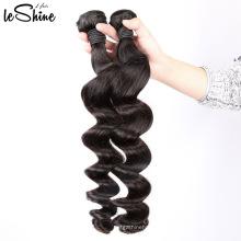 Nenhum derramamento não transformados Weave humano do cabelo virgem