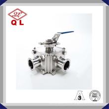 304 или 316L санитарная нержавеющая сталь трехходовой запорный шаровой кран