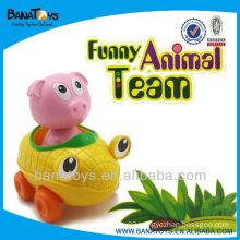 plastic pig toy plastic cartoon toy car
