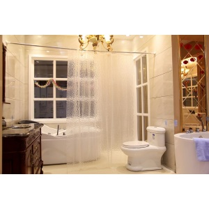 Rideau de douche PEVA Design semi-transparent