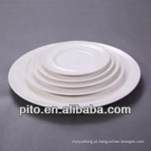 P & T porcelana facoty rodada placas de cerâmica, prato de servir, pratos de porcelana