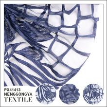 Vente chaude haute qualité à la mode polyester fleur tissu de broderie