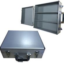 Boîte à outils en aluminium à large ouverture avec espace divisé