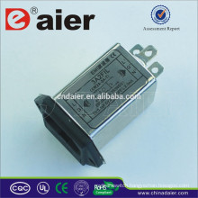 Daier Single-phase Two Stages Emi Power Line Electromagnetic Filter