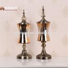 Китайского производства оптом различной формы сад свадебные украшения дома золото высокий цилиндр стекло домашнего декора