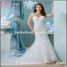 Elegant Ivory Mermaid Satin Wedding Dress Cestbella XL023