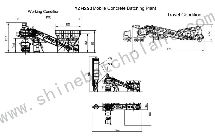 Drawing Mobile Batch Plant 50