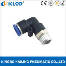 Plastic Material Male Elbow Pneumatic Fitting Pl16-04
