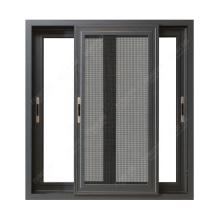 Portes en aluminium et conceptions de fenêtre, fenêtres coulissantes en aluminium à double vitrage insonorisées