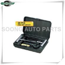 28 PCS Kits de Reparação de Pneus de Carro Kit de Reparação de Punção de Pneus Sem Tubo