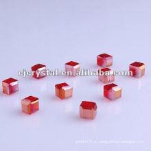Стеклянные бусины Lampwork Cube