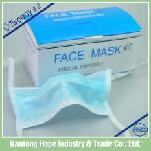 máscara facial não tecida descartável médica para o adulto