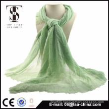 2015 new fashion women polyester thin spring scarf green color