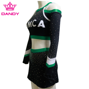 AB Crystals Plus Size Uniformes Custom Cheer en ligne