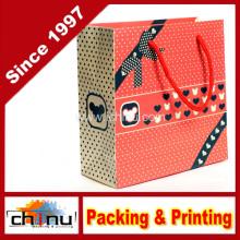 Art Paper Wihte Karton Papier Einkaufstasche (210001)