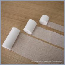 CE e ISO13485 100% algodão gaze absorvente rolo de bandagem