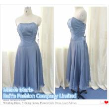 Appliqued Short Length Open Back Femmes Robes en ligne pour les robes de soirée en soie en mousseline de soie BYE-14063