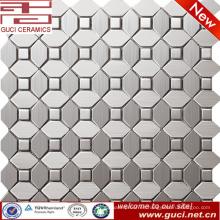 foshan suministra mosaico de acero inoxidable mezclado para el diseño de la pared de la cocina