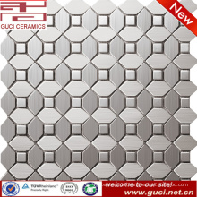 foshan supply mixed stainless steel mosaic tile for kitchen wall design