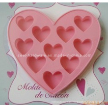Molde Heart-Shaped do bolo do silicone (SE-294)