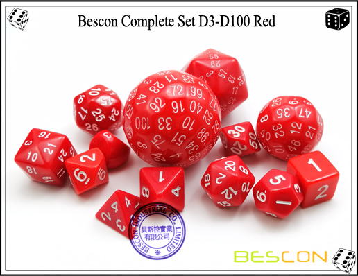Complete Dice Set D3-D100 (10)