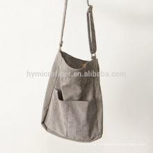Новый дизайн длинный ремень хлопка хозяйственная сумка