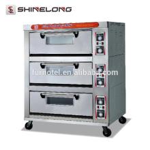 Guangzhou Commercial Edelstahl 1-Schicht 2-Fach Deck Backofen mit Dampf