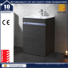 Modern Black Melamine Floor Standing Bathroom Vanities with Light