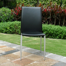 Black Leather Restaurant Chair with Metal Leg (SP-LC222)