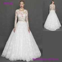 Luxuxgroßverkauf-lange Hülsen reizvolle Entwurfs-moslemische Hochzeits-Kleider