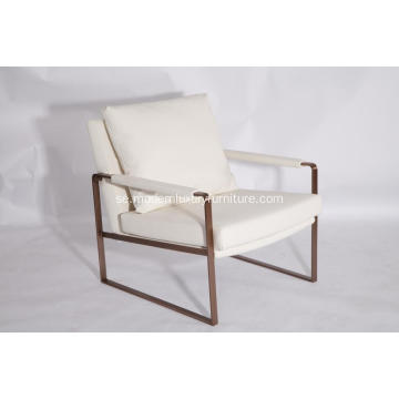 Moderna Zara Stainless Steel Lounge Chair