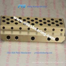 Ölfreie Graphitbronze Buchse, ölfreie Gleitplatte, Zinnbronze C90500 Bronze Kupferlegierung Kupferplatte
