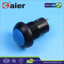 Interruptor de botón de plástico con cierre de 12 mm